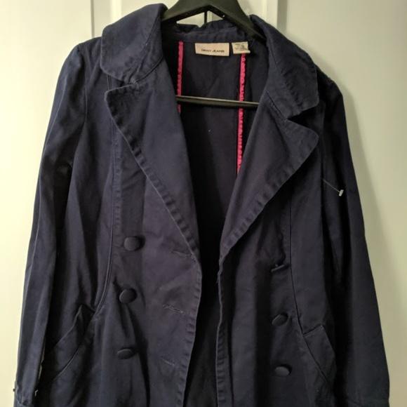 Dkny Jackets & Blazers - DKNY JEANS navy blue 3/4 length jacket